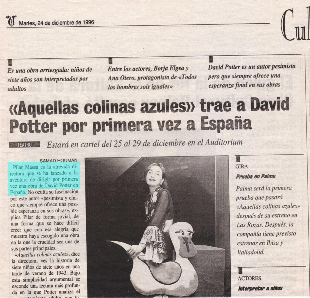 Aquellas Colinas Azules, critica Diario de Mallorca
