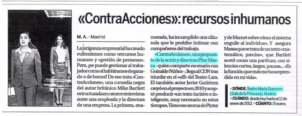 Critica Contracciones en el diario La Razón