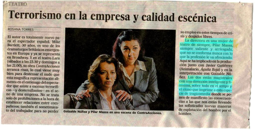 Critica Contracciones de Rosana Torres