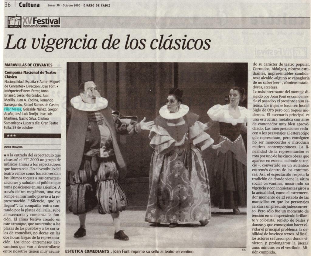 Maravillas de Cervantes, Festival de Otoño