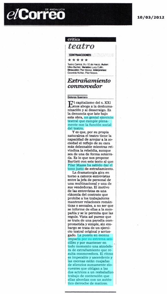 Critica Contracciones en el Correo de Andalucia