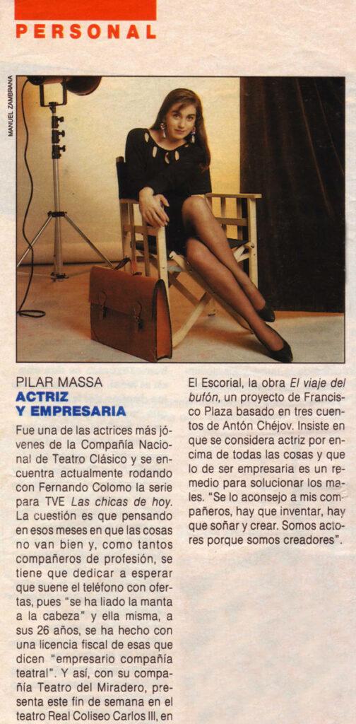 Pilar Massa, actriz y empresaria