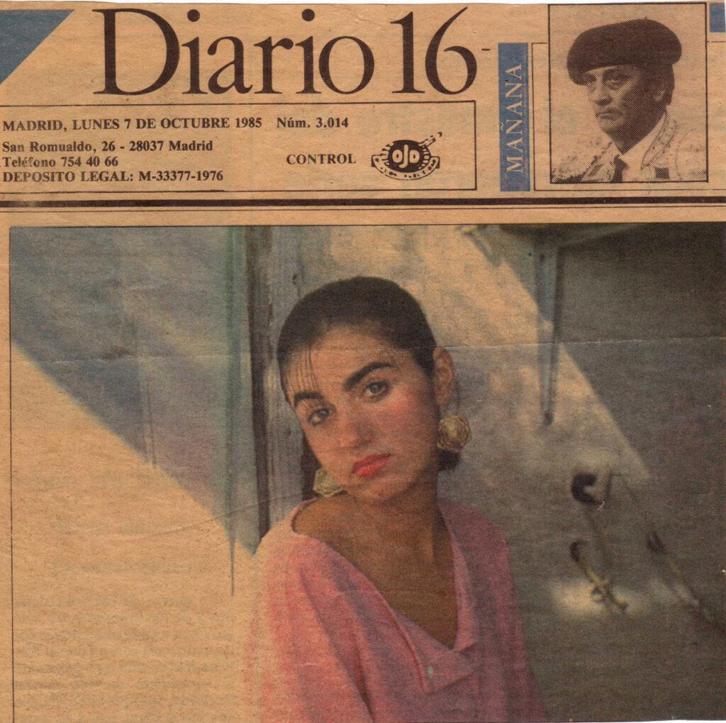 Pilar Massa, contraportada Diario 16